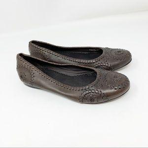 Jack Rogers Size 5.5 Navajo Leather Ballet Flats